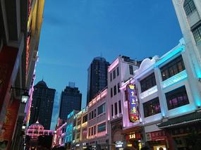 广州北京路复古建筑群夜景