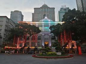 广州财厅前夜景