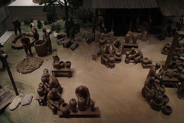 宁夏西夏王陵博物馆出土土窑