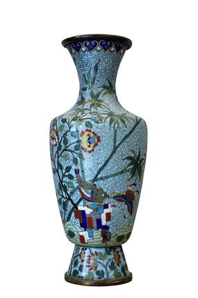 花卉纹景泰蓝瓶