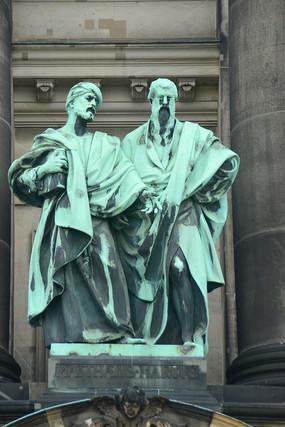 德国柏林大教堂外墙人物雕塑