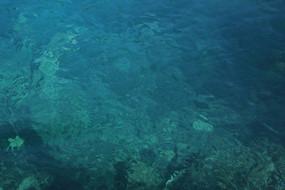 藍色清澈水面