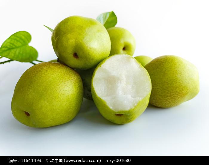 一堆脆梨香梨圖片