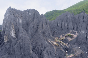 四川墨石公园糜棱岩石林风光