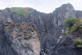 四川墨石公园糜棱岩石林景观