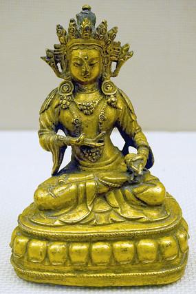 四川博物院 藏传佛教金刚持铜像