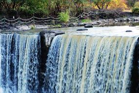 黑龍江鏡泊湖瀑布