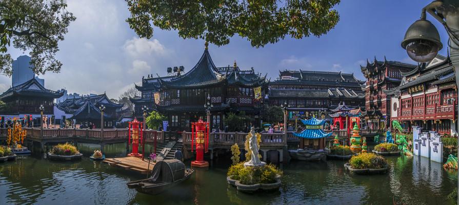 上海豫园九曲桥美景