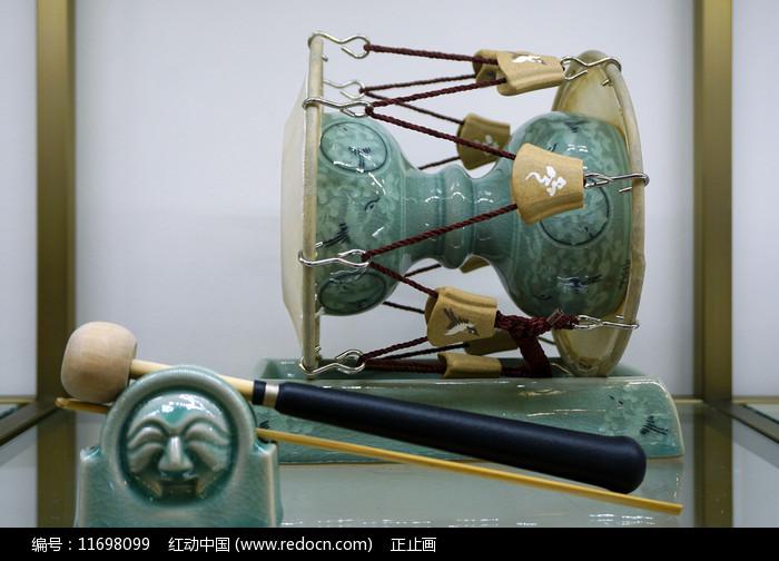 陶瓷工艺品杖鼓图片