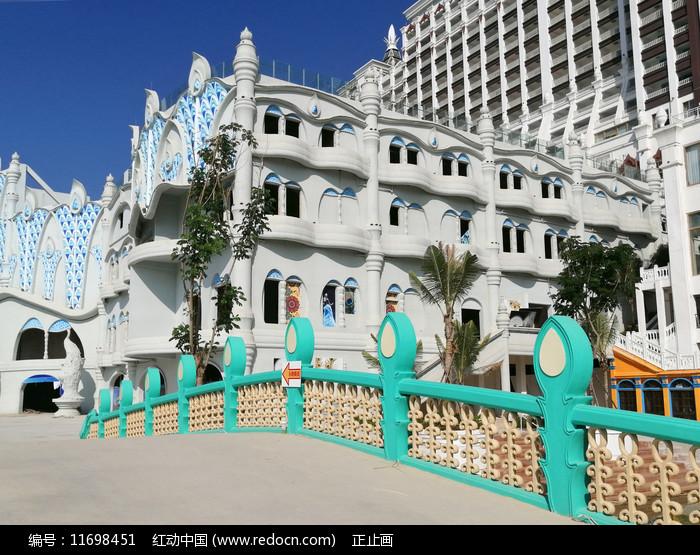 西双版纳告庄-傣族风格建筑 图片