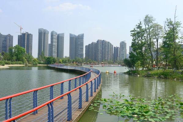 成都江滩公园水景园林