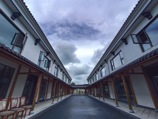 徽派亭廊建筑
