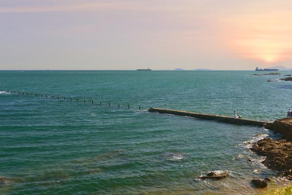 青岛太平湾海岸风光