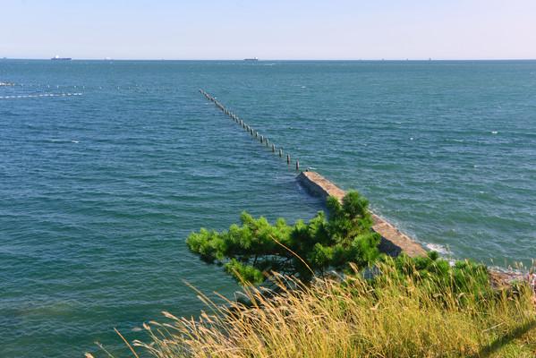 山东青岛太平湾海岸防浪堤