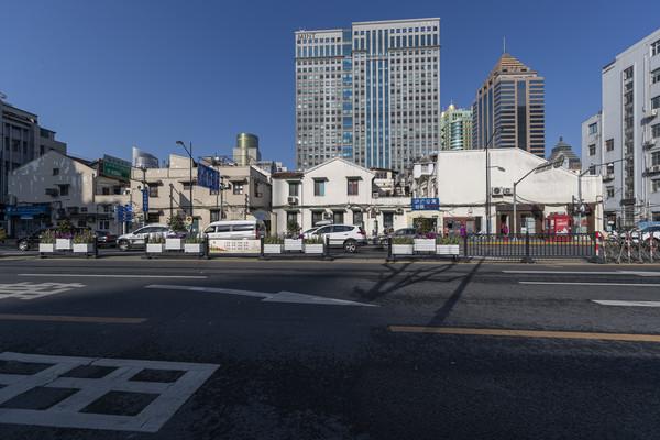上海黄浦区福州路街景