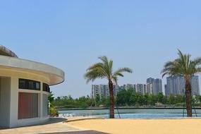 中国四川成都江滩公园游泳池