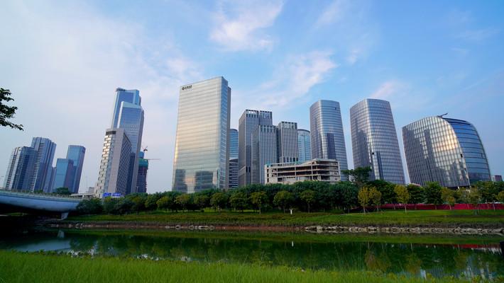 高楼大厦城市建设深圳前海