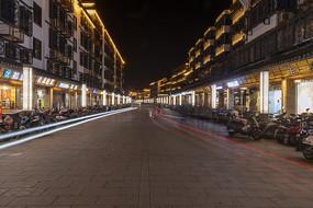 嘉善西塘商业街夜色