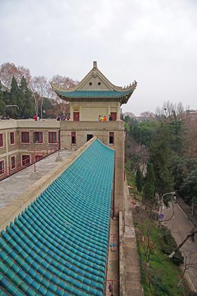 武汉大学建筑局部特写