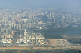 廣東深圳寶安區城市航拍