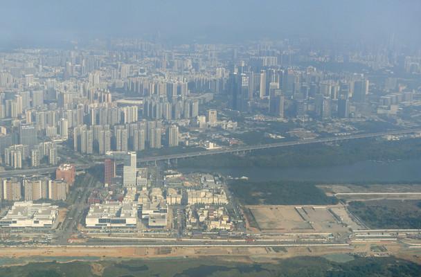 广东深圳宝安区城市航拍