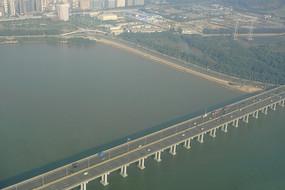 廣東深圳廣深沿江高速公路航拍