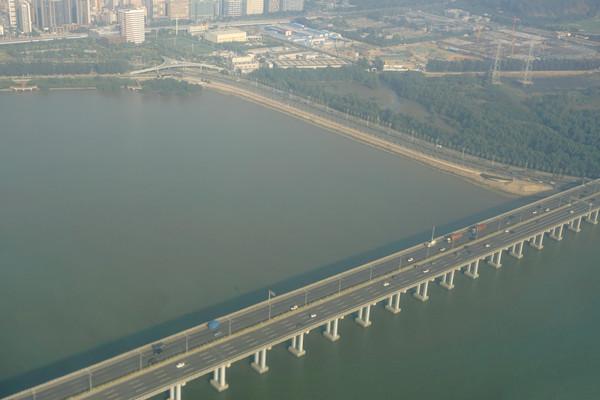 广东深圳广深沿江高速公路航拍