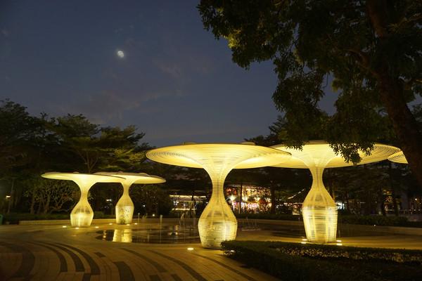 广东深圳欢乐海岸喷泉及灯光