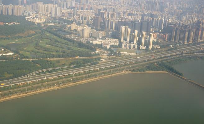 广深沿江高速及沿途城市航拍