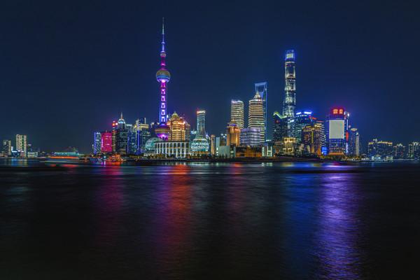 上海陆家嘴夜景图