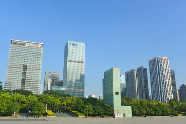 深圳福田CBD城市高楼大厦