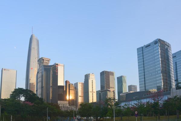 深圳市中心CBD城市高楼大厦