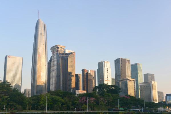 深圳中央商务区城市高楼大厦