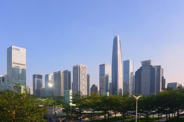 深圳中央商务区福田CBD高楼