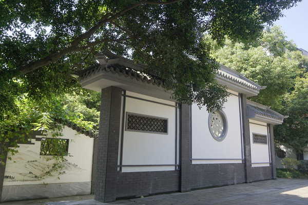 成都三国文化黄忠街影壁