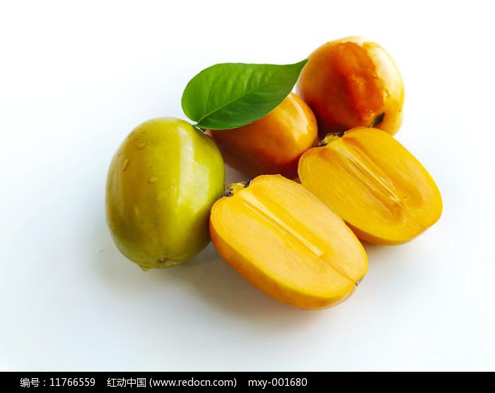 白底甜柿子图片