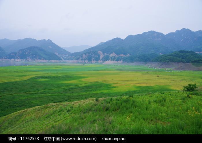绿江村的美丽景色图片