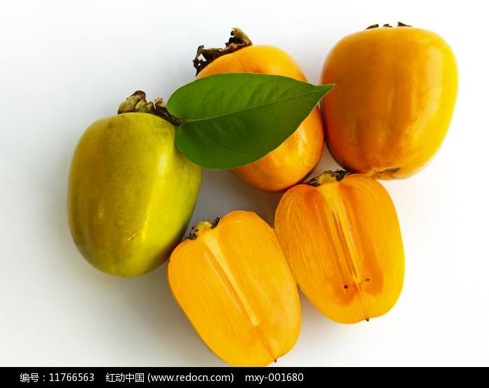 甜脆柿子拍摄图片