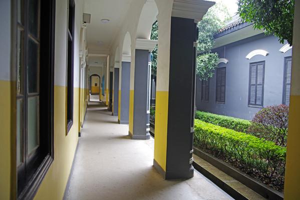 湖南第一师范学院走廊