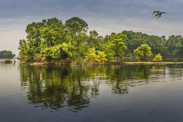 秋天湖上风光
