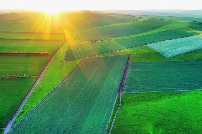 航拍绿色田园风光