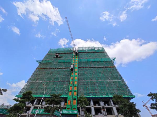 建筑施工保护网高楼脚手架