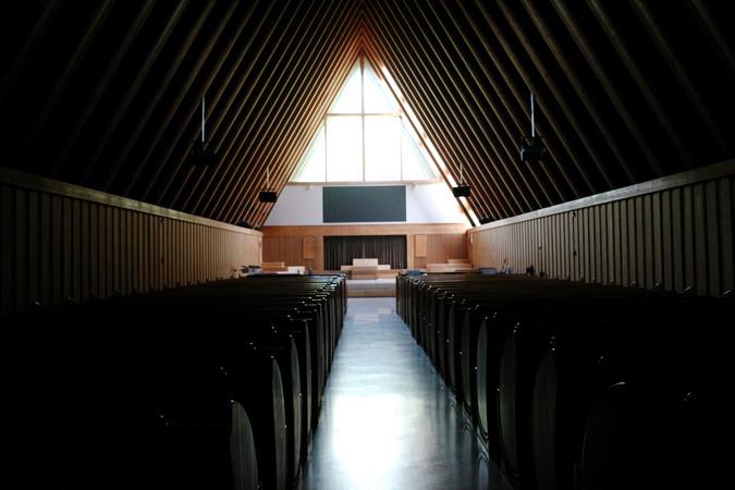 教堂建筑横构图