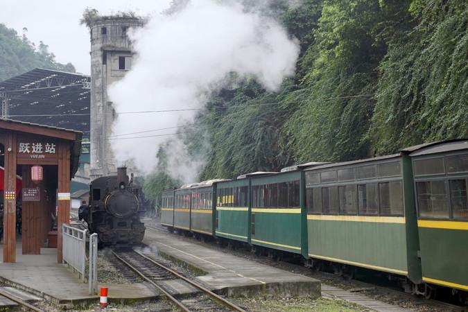 四川嘉阳小火车起点站