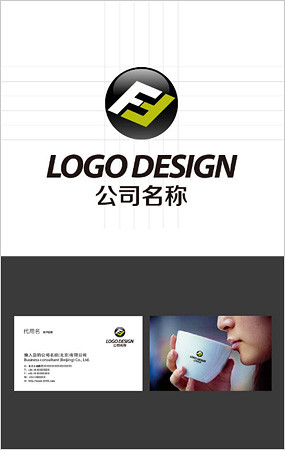 f字母开头logo