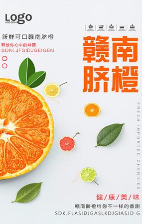 水果橙子海报